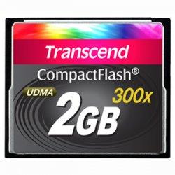 Transcend - TS2GCF300 - Transcend 2GB CompactFlash (CF) Card - 300x - 2 GB