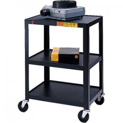 Bretford - 34-E4 - Bretford 34-E4 Assembled Mobile A/V Cart - Steel - Black