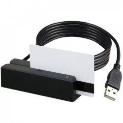 Uniform Industrial (UIC) - MSR213U-33AUKNR - Uniform Industrial MSR213U Magnetic Stripe Reader - High Coercivity (HiCo), Low Coercivity (LoCo) - Triple Track - 55 in/s - Keyboard Wedge, USB - Black