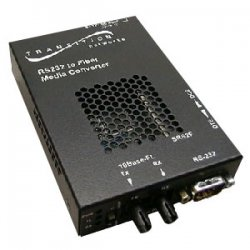 Transition Networks - SRS2F3111-100-NA - Transition Networks RS232 Copper to Fiber Media Converter - 1 x DB-9 , 1 x ST Duplex