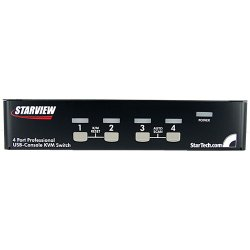StarTech - SV431DUSBU - StarTech.com 4 Port 1U Rackmount USB KVM Switch with OSD - 4 Port - 1U - Rack-mountable