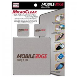 Mobile Edge - MEAMC3 - Mobile Edge MicroClear Cleaning Pad - MicroFiber - Silver