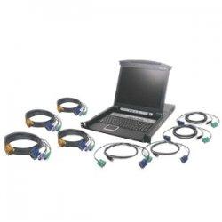 "IOGear - GCL1808KIT - IOGEAR GCL1808KIT Rackmount LCD - 8 Computer(s) - 17"" LCD - SXGA - 1280 x 1024 - 2 x USB - Daisy Chain - TouchPad"