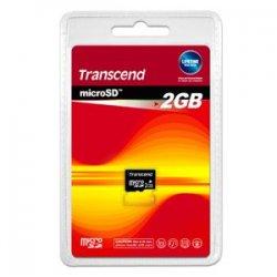 Transcend - TS2GUSDC - Transcend 2GB microSD Card - 2 GB
