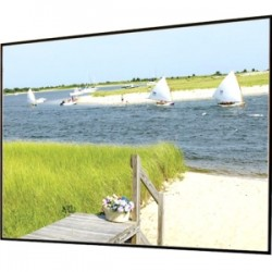 Draper - 252176 - Draper Clarion Fixed Frame Projection Screen - 148 - 2.35:1 - Wall Mount - 62 x 140.3 - Pearl White CH1900V