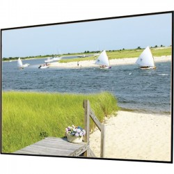 Draper - 252211 - Draper Clarion Fixed Frame Projection Screen - 123 - 16:10 - Wall Mount - Pearl White CH1900V