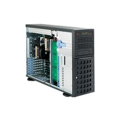 Supermicro - SYS-7046A-HR+ - Supermicro SuperServer 7046A-HR+ Barebone System - 4U Tower - Intel 5520 Chipset - Socket B LGA-1366 - 2 x Processor Support - Black - 288 GB DDR3 SDRAM DDR3-1333/PC3-10600 Maximum RAM Support - Ultra ATA/100 (ATA-6), Serial