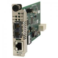 Transition Networks - C2110-1011 - Transition Networks C2110-1011 Fast Ethernet Media Converter - 1 x Network (RJ-45) - 1 x ST Ports - 10/100Base-TX, 100Base-FX - Internal