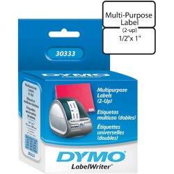 "DYMO - 30333 - Dymo White Label - 0.5"" x 1"" - 1 x Roll, 1000 x Label"