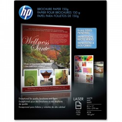 Hewlett Packard (HP) - Q6543A - HP Brochure/Flyer Paper - Letter - 8 1/2 x 11 - 40 lb Basis Weight - Matte, Ultra Smooth - 97 Brightness - 150 / Pack - White