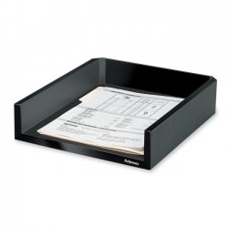 "Fellowes - 8038501 - Fellowes Designer Suites Letter Tray - 2.5"" Height x 11.1"" Width x 13"" Depth - Desktop - Black, Pearl - 1Each"