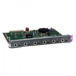 Cisco - WS-X4506-GB-T-RF - Cisco Gigabit Ethernet Power Over Ethernet Switching Module - 6 x 10/100/1000Base-T - 6 x SFP