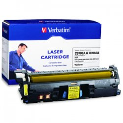 Verbatim / Smartdisk - 95377 - Verbatim Remanufactured Laser Toner Cartridge alternative for HP C9702A & Q3962A Yellow - Yellow - Laser - 4000 Page - 1 / Pack