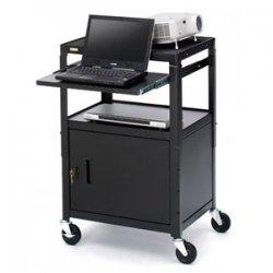 Bretford - CA2642NS - Bretford CA2642NS Presentation Cart with Cabinet - Black