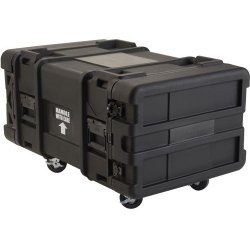 "SKB Cases - 3SKB-R906U28 - SKB 3SKB-R906U28 28"" Deep 6U Roto Shock Rack - Internal Dimensions: 19"" Width x 10.50"" Height - 24.84 gal - Latching Closure - Heavy Duty - Stackable - Polyethylene - Black - For Rack Device"