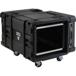 "SKB Cases - 3SKB-R908U28 - SKB 3SKB-R908U28 28"" Deep 8U Roto Shock Rack - Internal Dimensions: 19"" Width x 14"" Height - 33.14 gal - Latching Closure - Heavy Duty - Stackable - Polyethylene - Black - For Rack Device"