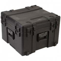 "SKB Cases - 3R2423-17B-CW - SKB 3R Roto Molded Waterproof Case - Internal Dimensions: 24"" Width x 23"" Depth x 17"" Height - 40.62 gal - Latching Closure - Polyethylene - Black - For Military"