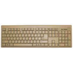 Keytronic - KT400U1 - Keytronic KT400 Keyboard - Cable Connectivity - USB Interface - Beige