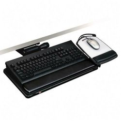 3M - AKT151LE - 3M Adjustable Keyboard Tray - 11.7 Height x 24.4 Width x 7.2 Depth - Black