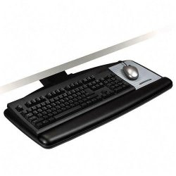 3M - AKT91LE - 3M Adjustable Keyboard Tray with Easy Adjust Arm, Standard Platform - 25.5 Width x 12 Depth - Black