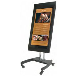 Premier Mounts - PSD-VPS - Premier Mounts PSD-VPS Low Profile Mobile Monitor Cart - Steel - Black