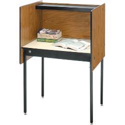 Da-Lite - 5206 - Da-Lite B-A Beta Adder Study Carrel - 22.50 Table Top Length x 35.50 Table Top Width - 46 Height - Black, Powder Coated
