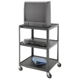 Da-Lite - 7017 - Da-Lite PIXMate PM6-48 A/V Equipment Stand - 25 to 29 Screen Support - 48 Height x 30 Width x 25 Depth - Powder Coated - Steel - Black