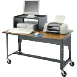 Da-Lite - 7044 - Da-Lite Advance DPL Mobile Computer Table - Rectangle Top - 48 Table Top Width x 30 Table Top Depth - 26.50 Height