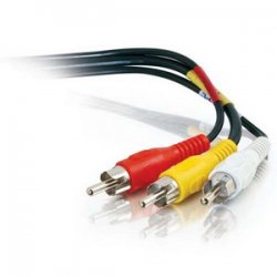 C2G (Cables To Go) - 40449 - C2G 12ft Value Series Composite Video + Stereo Audio Cable - RCA Male - RCA Male - 12ft - Black
