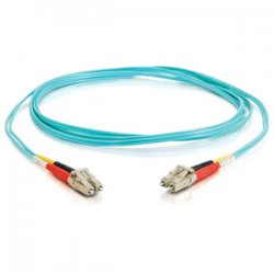 C2G (Cables To Go) - 21612 - C2G 30m LC-LC 10Gb 50/125 OM3 Duplex Multimode PVC Fiber Optic Cable (USA-Made) - Aqua - Fiber Optic for Network Device - LC Male - LC Male - 10Gb - 50/125 - Duplex Multimode - OM3 - 10GBase-SR, 10GBase-LRM - USA-Made - 30m -