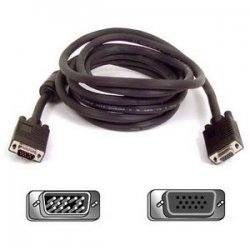 Belkin / Linksys - F3H981-75 - Belkin Pro Series VGA/SVGA Monitors Extension Cable - HD-15 Male - HD-15 Female - 75ft - Black