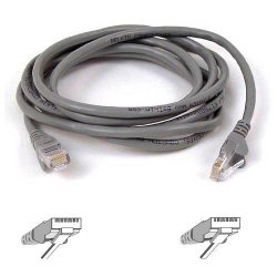 Belkin / Linksys - A3L980-10-S - Belkin 10ft CAT6 Ethernet Patch Cable Snagless, RJ45, M/M, Gray - Patch cable - RJ-45 (M) to RJ-45 (M) - 10 ft - UTP - CAT 6 - booted, snagless - B2B - for Omniview SMB 1x16, SMB 1x8, OmniView SMB CAT5 KVM Switch