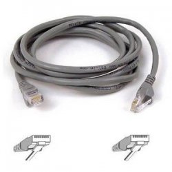 "Belkin / Linksys - A3L791-02-S - Belkin Cat5e Patch Cable - RJ-45 Male Network - RJ-45 Male Network - 24"" - Gray"