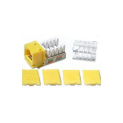 C2G (Cables To Go) - 29318 - C2G Cat6 RJ45 UTP Keystone Jack - Yellow - RJ-45, 110-punchdown