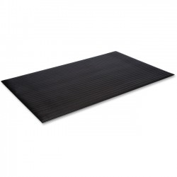 "Crown Mats / Ludlow Composites - FL3660BK - Crown Mats Tuff-Spun Foot-Lover Mat - Cement Floor, Service Counter, Mailroom, Cashier's Station, Warehouse, Floor - 60"" Length x 36"" Width x 0.38"" Thickness - Rectangle - Vinyl, PVC Sponge - Black"