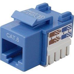 Belkin / Linksys - R6D026-AB6-BLU - Belkin Cat. 6 Keystone Jack - RJ-45, 110-punchdown