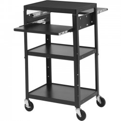 Bretford - A2642DNS - Bretford Basics A2642DNS AV Notebook Cart - 5 x Shelf(ves) - 42 Height x 24 Width x 18 Depth - Powder Coated - Steel - Black