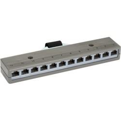 Black Box Network - 36453 - Black Box 12-Port Cat3 Network Patch Panel - 12 x RJ-45, 1 x Telco - 13 Port(s) - 12 x RJ-45 - 13 x RJ-11