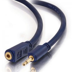 C2G (Cables To Go) - 40628 - C2G 25ft Velocity 3.5mm M/F Mono Audio Extension Cable - Mini-phone Male - Mini-phone Female - 25ft
