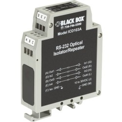 Black Box Network - ICD103A - Black Box DIN Rail Repeater with Opto-Isolation, RS-232