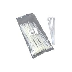 C2G (Cables To Go) - 43035 - C2G 11.5in Cable Ties - White - 100pk - Cable Tie - Natural - 100 Pack