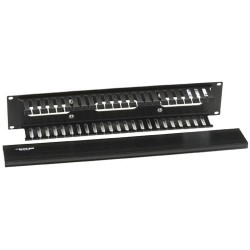 Black Box Network - RMT102A-R3 - Black Box Single-Sided Rackmount Cable Raceway - Raceway - 1 Pack - 2U Rack Height - 19 Panel Width