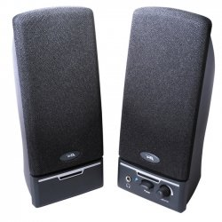 Cyber Acoustics - CA-2012RB - Cyber Acoustics CA-2012RB 2.0 Speaker System - 4 W RMS - Black - 85 Hz - 18 kHz