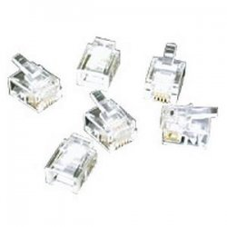 C2G (Cables To Go) - 27556 - C2G RJ11 6x4 Modular Plug for Flat Stranded Cable - 10pk - RJ-11