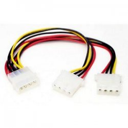StarTech - PYO2L - StarTech.com LP4 to 2x LP4 Power Y Splitter Cable M/F - 9