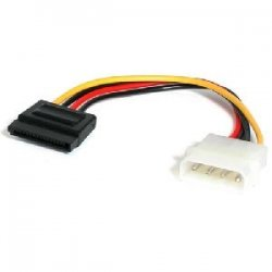 StarTech - SATAPOWADAP - StarTech.com 6in 4 Pin Molex to SATA Power Cable Adapter - 6
