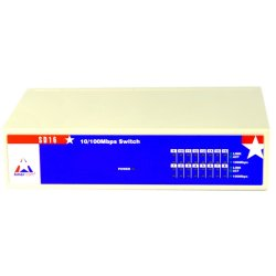 Amer Networks - SD16 - Amer SD16 Ethernet Switch - 16 Ports - 10/100Base-TX - 16 x Network - 2 Layer SupportedLifetime Limited Warranty