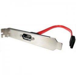 StarTech - SATAPLATE1 - StarTech.com 1 Port SATA to SATA Slot Plate Bracket - Female SATA - Male SATA - 1ft