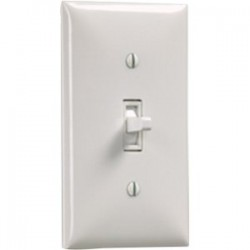 Draper - 121102 - Draper Wall Switch SS-1R (White) - Rocker Switch - Projector Lift, Electric Screen - White Plate