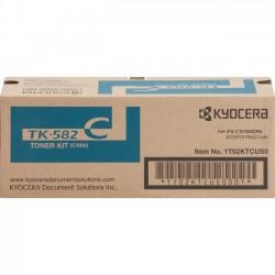 Kyocera - TK582C - Kyocera TK-582C Original Toner Cartridge - Cyan - Laser - 2800 Page - 1 Each